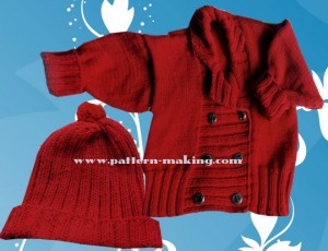 Baby Reefer Jacket and Hat-1