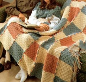 Basket weave Afghan-1
