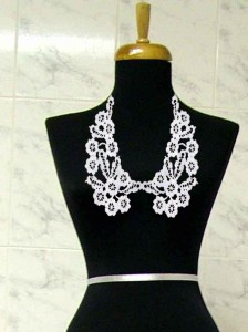 Beaded Crochet Collar-1