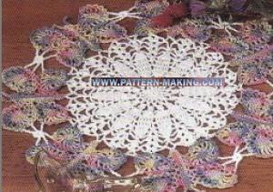 Crochet Butterfly Doily-1