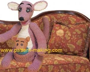 Crochet Kangaroo & baby-1