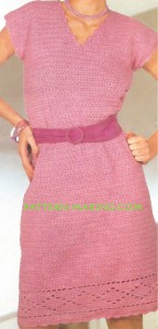 Crochet V-Neck Dress-1