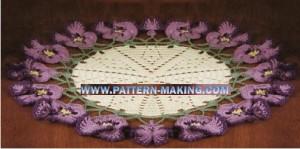 Crochet Viola Pansy Doily-2