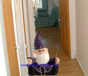 Crochet door stop Wizard-1