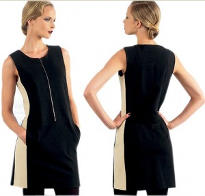 Donna Karan Vogue Two Tone Dress-1