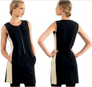 Donna Karan Vogue Two Tone Dress-1