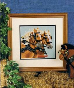 Draft Horses-Cross Stitch-1