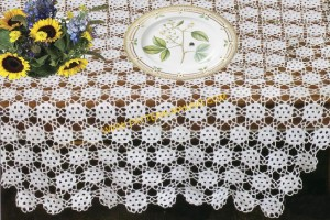 Eyelet Accent Tablecloth-1