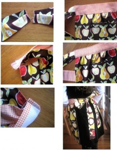How to Sew a Lined Apron-6