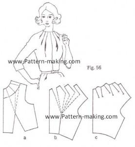 How to make multiple dart tucks at the neckline-1