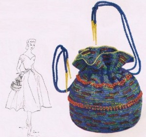 Iridescent And Blue Bag With Beads-1