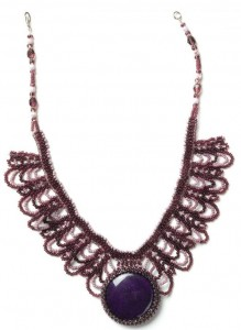 Netted Cabochon Necklace-1