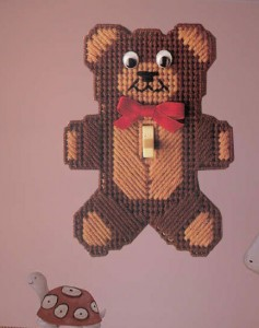 Night Teddy Switch Plate Cover-1