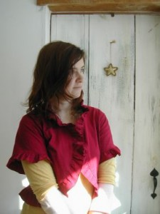 Restyle a T-Shirt into a Ruffly Cardigan-1