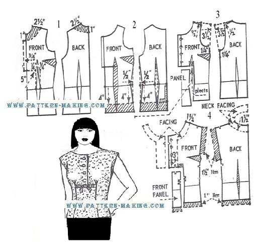 How To Sew A Blouse With A Pattern - Image Blouse Loiseaubleu.Org