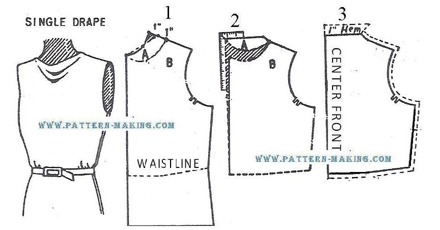 Cowl Neck Blouse Pattern