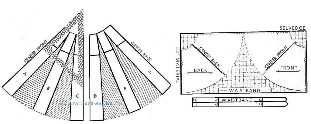 draft twopiece semicircular skirt-3