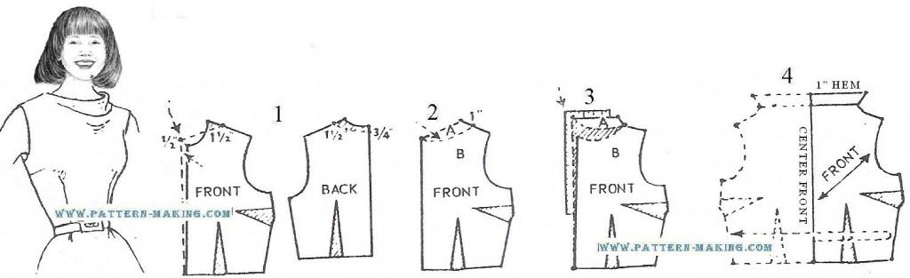 high cowl-neck single drape-1